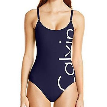 Calvin Klein Strap Beach One Piece Swimwear Bikini Swimsuit