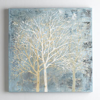 The Uttermost Co Forest Silhoutte Painting