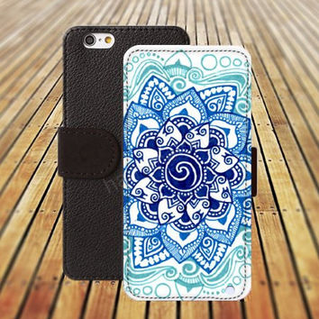 iphone 5 5s case Cartoon Mandara blues iphone 4/4s iPhone 6 6 Plus iphone 5C Wallet Case,iPhone 5 Case,Cover,Cases colorful pattern L335