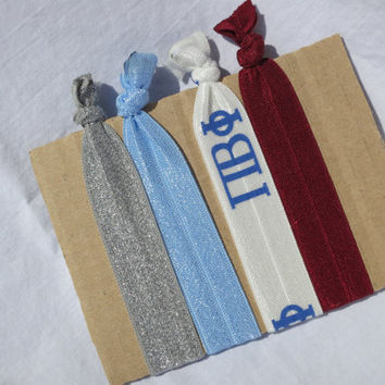 Pi Beta Phi Sorority Hair Elastic Set