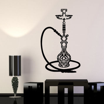 Vinyl Wall Decal Smoke Hookah Smoking Cafe Stickers Unique Gift (1060ig)