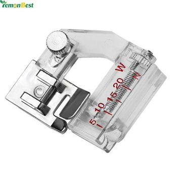 VONFC9 Adjustable Bias Binder Presser Foot Feet Binding Feet Sewing Machine Attachment Accessory For Low Shank Singer Janome Brother