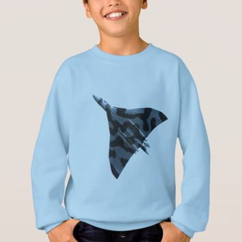 Vulcan bomber in flight sweatshirt