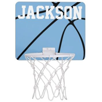 Custom Carolina Blue Basketball Gear Mini Basketball Hoops