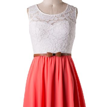Sugar and Spice Lace Bodice Dress