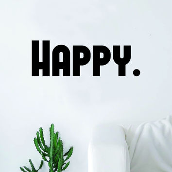 Happy Quote Wall Decal Sticker Bedroom Living Room Art Vinyl Inspirational Happiness Beautiful Good Vibes