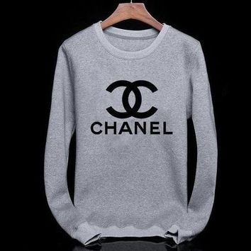 Tagre™ Chanel Fashion CC Logo Long Sleeve Top Sweater Pullover Sweatshirt