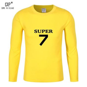 CIP 100%Cotton Boys T Shirts brand Children clothing Long Sleeve Tees Teen age Baby Spring Kids Tops Football T-shirt Super Star