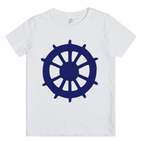 Boat Wheel-Unisex White Youth T-Shirt