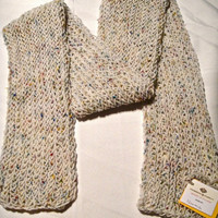 Soft White Fleck Color Scarf by p4pministry on Etsy