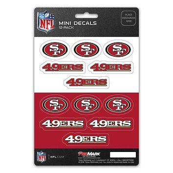 San Francisco 49ers Decal Set Mini 12 Pack