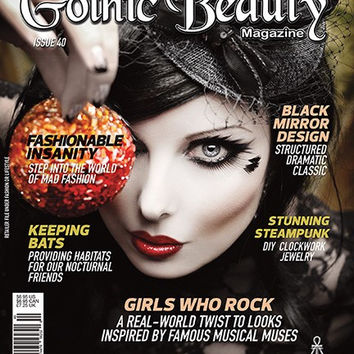 Gothic Beauty Magazine Issue 40 Music interviews with HIM, KMFDM and Cradle of Filth