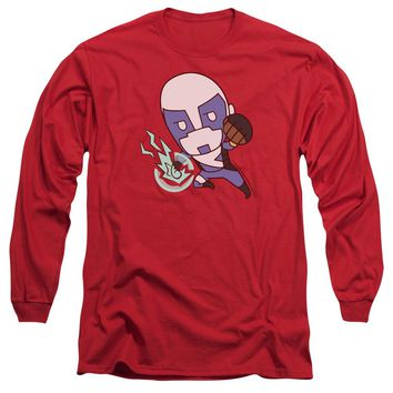 VALIANT/QUANTUM EMOJI-L/S ADULT 18/1-RED-SM