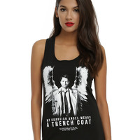Supernatural Castiel Guardian Angel Girls Tank Top