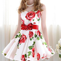 VINTAGE FASHION FLOWER SHOW BODY DRESS