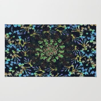 Black Russian Pattern Rug by Deluxephotos