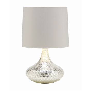 Tortoise Silver Glass Table Lamp