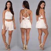 Bohemia Wear Crop Top And Short Set
