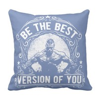 Fitness Motivational Quotes - Best Vesion Of You Throw Pillow
