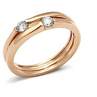 Rose Marie - A Statement Rose Gold Stainless Steel Ring and Cubic Zirconia Stones