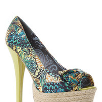 Dollhouse Butterfly Peep Toe Jute Pumps