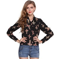 Blouse Women Shirt Chiffon  Autumn Winter Blou