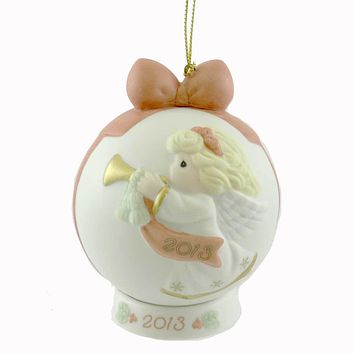 Precious Moments PEACE ON EARTH & GOODWILL TO ALL Dated Ball Ornament 131003