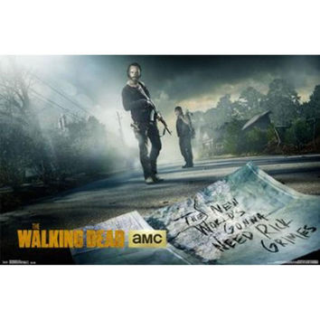 Walking Dead - Street 22x34 Standard Wall Art Poster