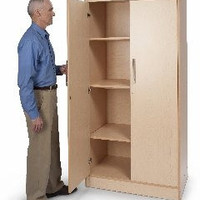 Whitney Brothers Tall and Wide Storage Cabinet WB9202