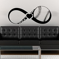 Love Baseball Wall Decals Infinity Sign Boy Girl Sport Sign Hearts Gym Home Vinyl Decal Sticker Baby Kids Room Decor NS687