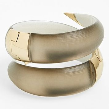 Women's Alexis Bittar 'Lucite' Coil Hinged Bangle