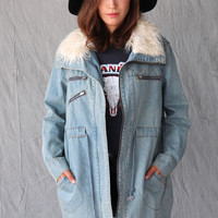 SOMEDAYS LOVIN FIGHTER DENIM PARKA
