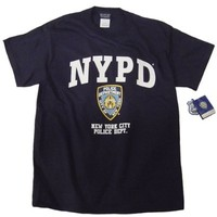 NYPD Shirt T-Shirt Navy Blue Clothing Apparel Officially Licensed Merchandise X-Large