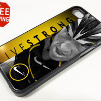 LIVESTRONG Lance Armstrong Just Do It Nike iPhone 5 Case Apple Phone Hard Cover Plastic