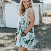 Palm Springs Pocket Mini Dress - Blue