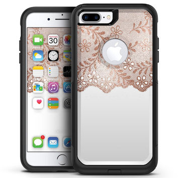Rose Gold Lace Pattern 5 - iPhone 7 or 7 Plus Commuter Case Skin Kit