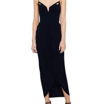 Silk Underwire Drape Long Dress | David Jones