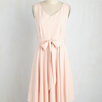 The Dancer to Your Questions Dress in Blush | Mod Retro Vintage Dresses | ModCloth.com