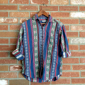 vintage unisex southwestern button-up shirt - size small