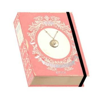 Holding Hands Charm Locket Vintage Book Box