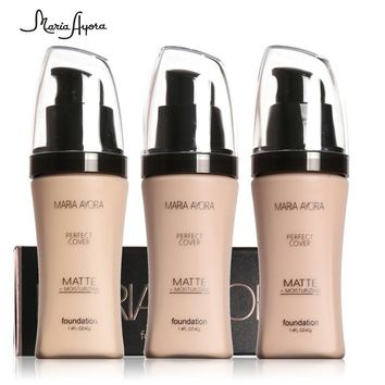 Professional  Liquid Base Foundation Makeup Long Lasting Brighten Matte Mineral