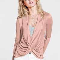 Long-sleeve Draped Top - Angel Tees - Victoria's Secret
