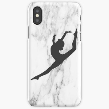Marble Gymnast Silhouette iPhone X Case