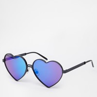 Wildfox Lolita Deluxe Heart Sunglasses