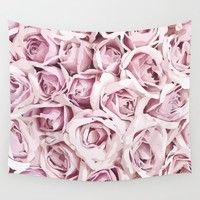 Blush Roses Wall Tapestry by allisone