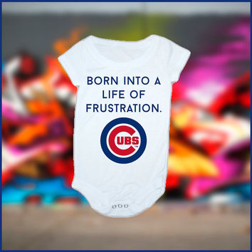Cubs Inspired baby Onesuit