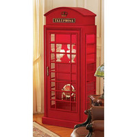British Phone Booth Cabinet | Electronics & Gadgets | SkyMall