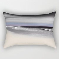 Lovely Twilight Seascape 2 Rectangular Pillow by Jen Warmuth Art And Design