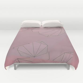 Shapes Shifted Duvet Cover by Ducky B