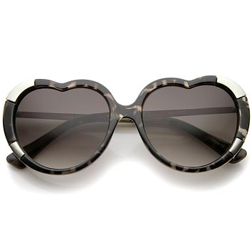 Women's Oversize Heart Shaped Sunglasses A224